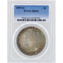 1899-O $1 Morgan Silver Dollar Coin PCGS MS64 Great Toning