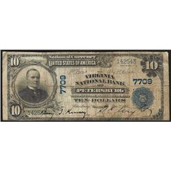 1902 $10 Virginia National Bank of Petersburg Currency Note CH# 7709