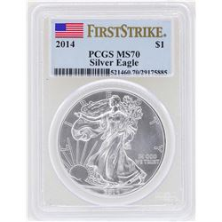 2014 $1 American Silver Eagle Coin PCGS MS70