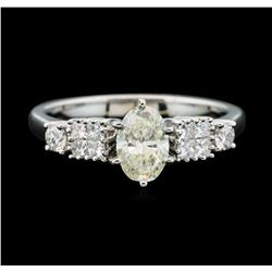 Platinum 1.11 ctw Diamond Ring