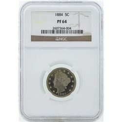 1884 Liberty V Proof Nickel Coin NGC PF64