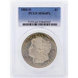 1884-O $1 Morgan Silver Dollar Coin PCGS MS64PL
