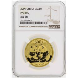 2009 China 50 Yuan Panda Gold Coin NGC MS68