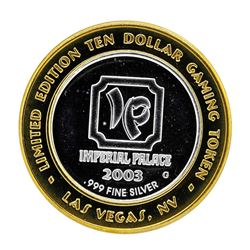 .999 Silver Imperial Palace Hotel & Casino Nevada $10 Gaming Token Limited Editi