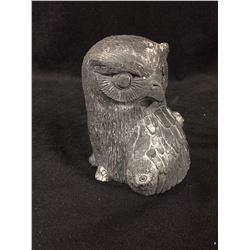 "VINTAGE NATIVE OWL STATUE (4"")"
