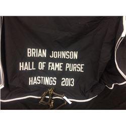 HORSE BLANKET & STIRRUP LOT (BRIAN JOHNSON HOF PURSE HASTINGS 2013)