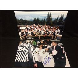 """MILAN LUCIC 16"""" X 20"""" PHOTO LOT (ONE AUTOGRAPHED)"""