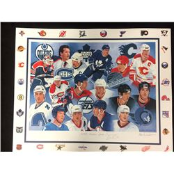 """CANADIAN HOCKEY GREATS PRINT AUTOGRAPHED BY TREVOR LINDEN (16"""" X 20"""")"""