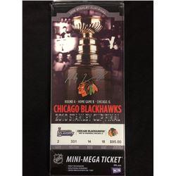 PATRICK SHARP AUTOGRAPHED CHICAGO BLACK HAWKS MINI-MEGA TICKET (2010 STANLEY CUP FINAL)
