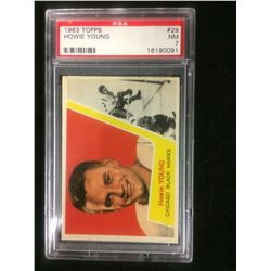 1963 TOPPS #29 HOWIE YOUNG (NM 7) PSA
