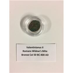 VALENTINIANUS II ROMANS WIDOW'S MITE BRONZE COIN (50 BC-400 AD)