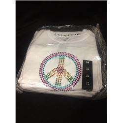 10 BRAND NEW PEACE SIGN T SHIRTS