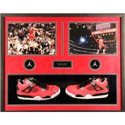 Michael Jordan Signed Bulls 25x31x4 Custom Framed Shoe Shadowbox Display (UDA COA)