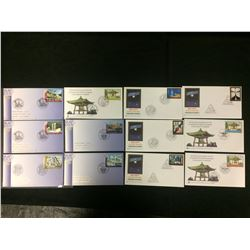 2004 MIXED FIRST DAY COVER LOT (WORLD HERITAGE GREECE, 50TH ANNIVERSARY OF THE JAPANESE PEACE BELL)