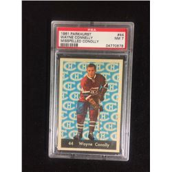 1961 PARKHURST #44 WAYNE CONNELLY (MISSPELLED CONOLLY) NM 7 (PSA)