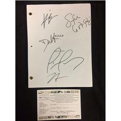 """AUTOGRAPHED """"DINER"""" SCRIPT (MICKEY ROURKE, STEVE GUTTENBERG, KEVIN BACON,TIM DALY, DANIEL STERN))"""