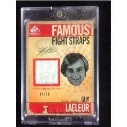 GUY LAFLEUR FAMOUS FIGHT STRAPS CARD (LIMITED EDITION 04/10)