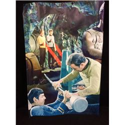 "Leonard Nimoy & William Shatner AUTOGRAPHED 48"" X 60"" STAR TREK BANNER W/ COA"