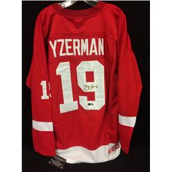 STEVE YZERMAN AUTOGRAPHED RED WINGS HOCKEY JERSEY W/ COA