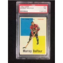 1960 TOPPS #12 MURRAY BALFOUR (NM 7) PSA