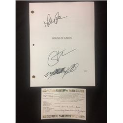"AUTOGRAPHED ""HOUSE OF CARDS"" SCRIPT (MOLLY PARKER, MICHAEL KELLY, CARY STOLL)"