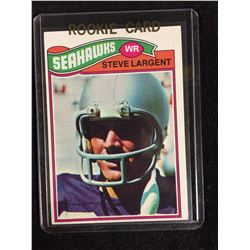 1977 Topps #177 Steve Largent Rookie Seahawks Card