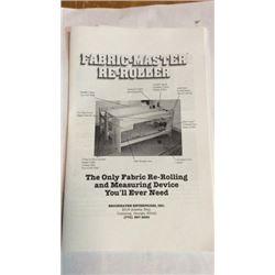 Fabric Master Reroller Sells @ 2 P.m.
