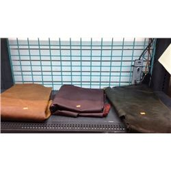 3 pieces of craft leather