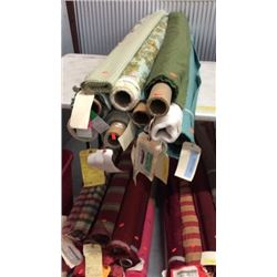 Mixed lot 10 rolls 5 to 9 yards each roll
