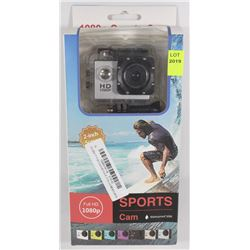 NEW 1080P SPORTS ACTION CAMERA W/ MOUNTS FULL HD