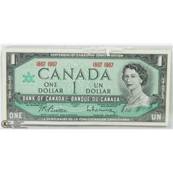 CANADIAN 1 DOLLAR CENTENNIAL  BANK NOTE