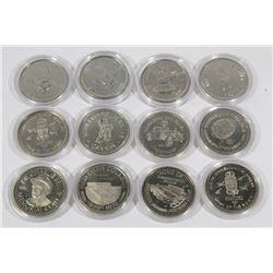 LOT OF 12 CANADIAN SOUVENIR DOLLARS