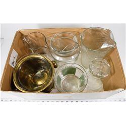 BOX 3) 4- ICE BUCKETS INCL BRASS, 2 GLASS,