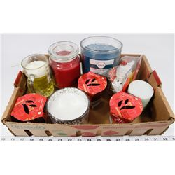 FLAT OF ASSORTED CANDLES