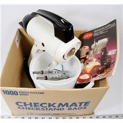 BOX 12) SUNBEAM MIXMASTER WITH ALL ACCESSORIES