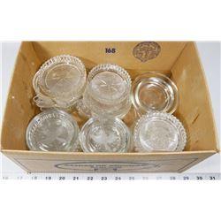 BOX 17) 26 GLASS COASTERS