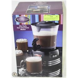 NOSTALGIA ELECTRIC 50'S STYLE HOT CHOCOLATE MAKER