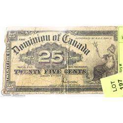 1900 CANADIAN SHIN PLASTER