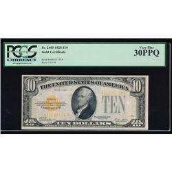 1928 $10 Gold Certificate PCGS 30PPQ