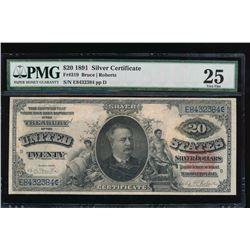 1891 $20 Silver Certificate PMG 25