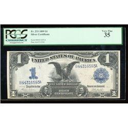 1899 $1 Black Eagle Silver Certificate PCGS VF35