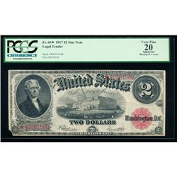 1917 $2 Legal Tender Note PCGS 20