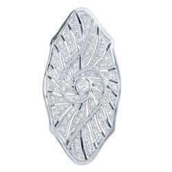 18KT White Gold 0.52ctw Diamond Brooch