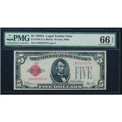 1928A $5 Legal Tender Note PMG 66EPQ