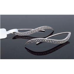 14KT White Gold 0.45ctw Diamond Earrings