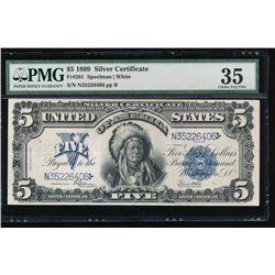 1899 $5 Chief Silver Certificate PMG 35