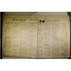 CIVIL WAR TOKENS AND NEWSPAPER: