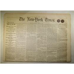 CIVIL WAR TOKENS & NEWSPAPER: