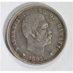1883 HAWAIIAN DIME, XF RARE