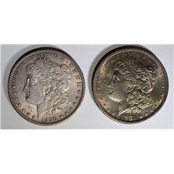 1881-S & 96 CH BU MORGAN DOLLARS NICE TONING